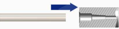 ①Resin tube insertion